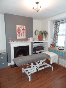The new treatment room has a relaxing atmosphere and more space